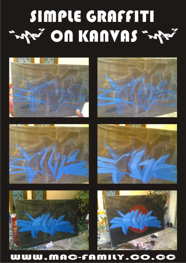 GRAFFITI SEDERHANA ON KANVAS
